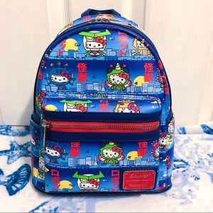NWT 👾 Loungefly Sanrio Hello Kitty Kaiju Backpack